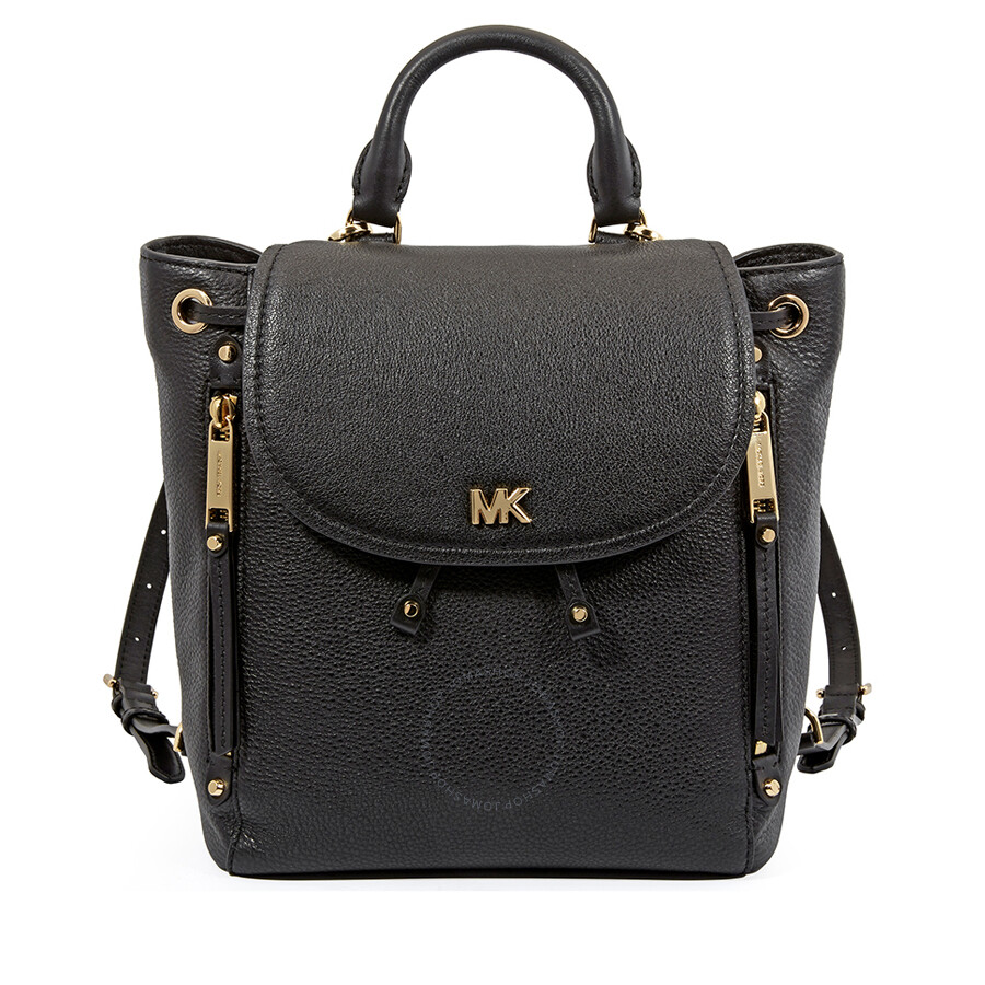 Michael Kors Evie Small Leather Backpack Black