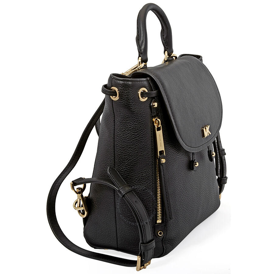 2bf93f89cdfe Michael Kors Evie Small Leather Backpack- Black - Michael Kors ...