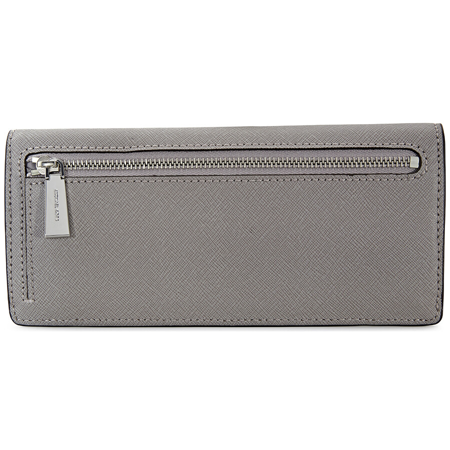 19bc4fd6a52835 Michael Kors Flat Jet Set Travel Wallet - Pearl Grey - Jet Set ...