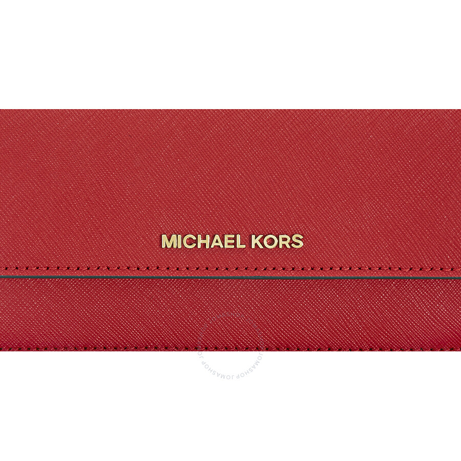 0c969a66402c Michael Kors Flat Jet Set Travel Wallet- Bright Red - Jet Set ...