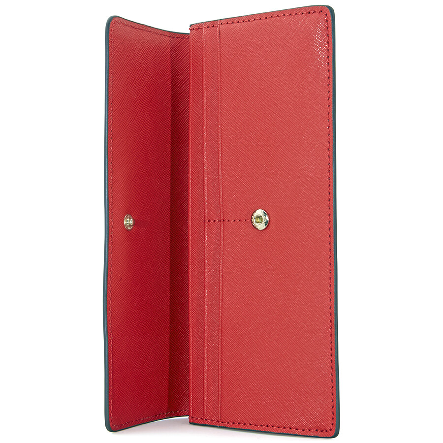86982586d743 Michael Kors Flat Jet Set Travel Wallet- Bright Red - Jet Set ...