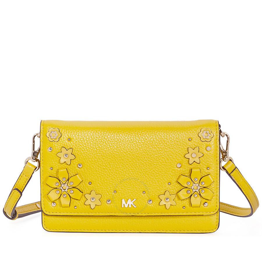 201f553e8c4d1 Michael Kors Floral Embellished Convertible Crossbody- Sunflower Item No.  32T8GF5C3Y-719