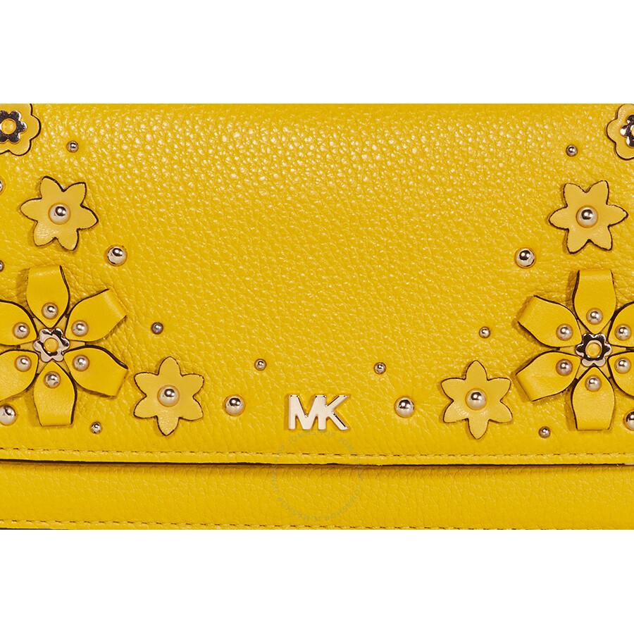 5e50d4684f6b Michael Kors Floral Embellished Convertible Crossbody- Sunflower ...