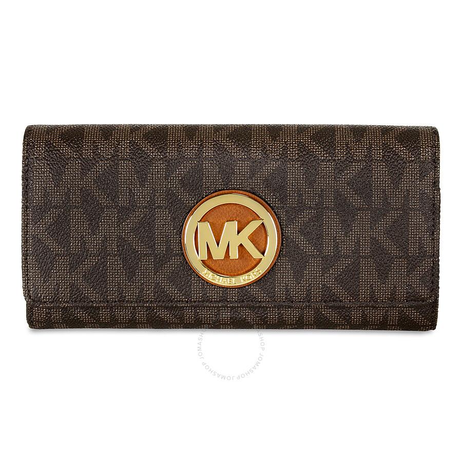 df846983869a61 Michael Kors Fulton Carryall Brown Wallet - Michael Kors Handbags ...