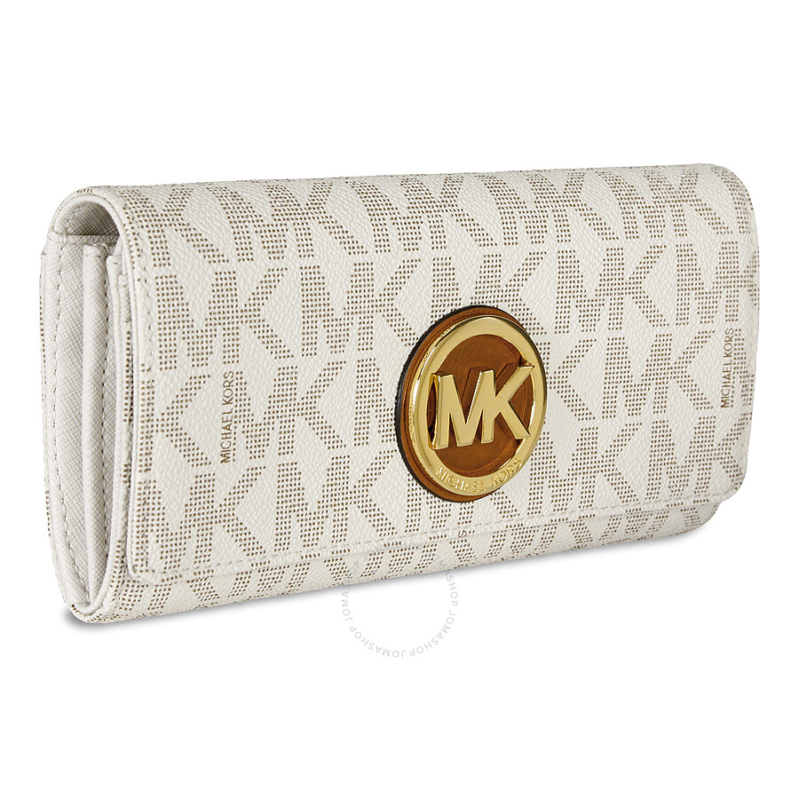 b1e4d109603b Buy michael kors fulton wallet vanilla   OFF61% Discounted