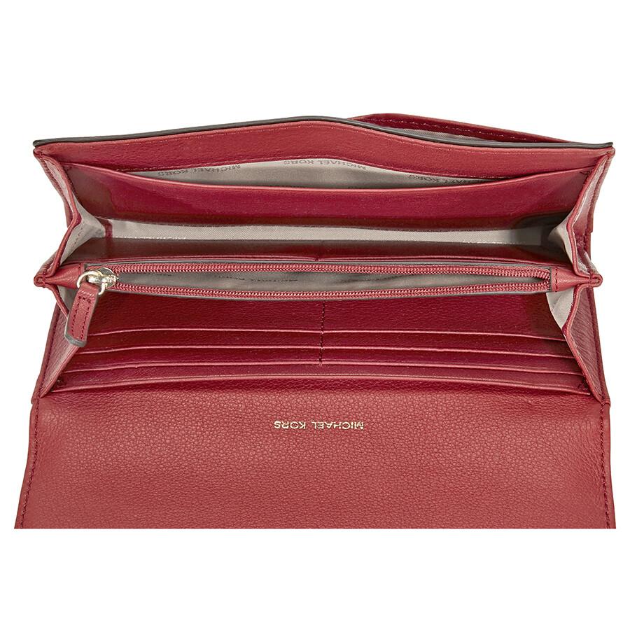 849eafaa20e0 Michael Kors Fulton Carryall Wallet - Burnt Red - Handbags - Jomashop