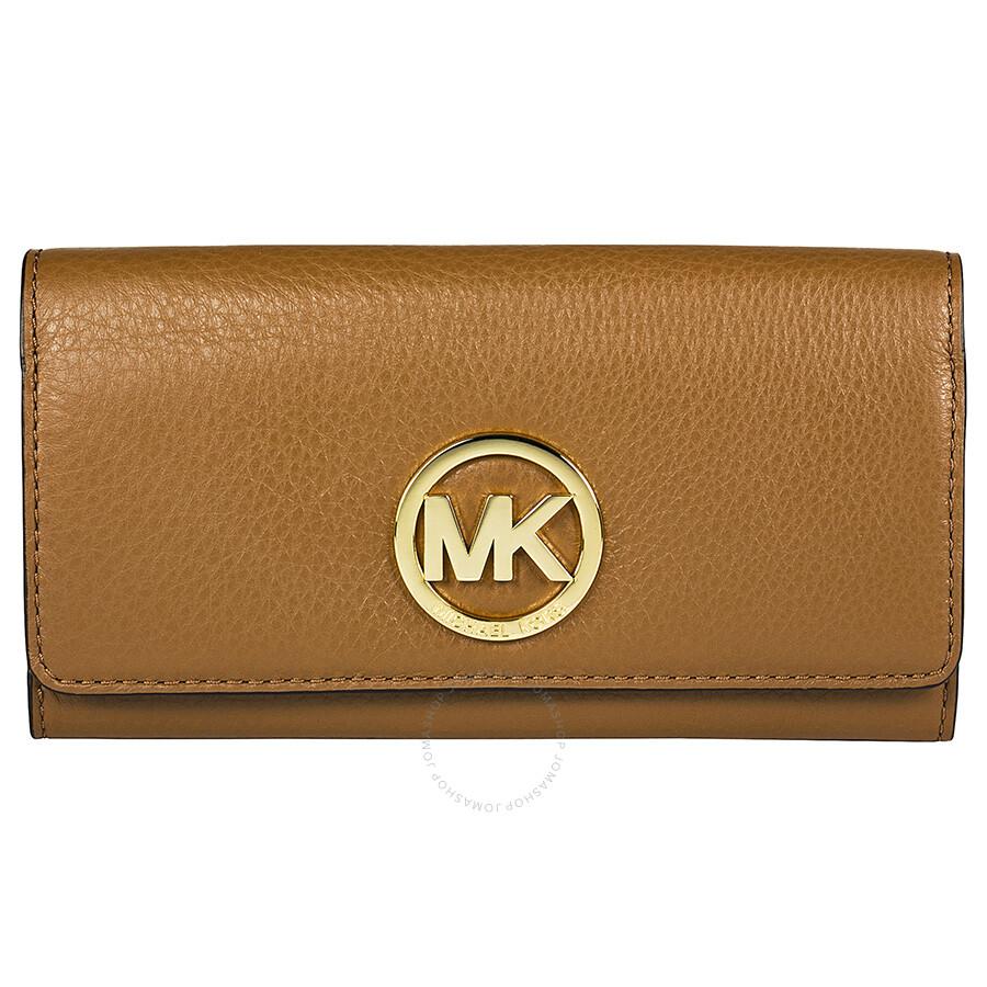 03b0a962f1de Michael Kors Fulton Carryall Wallet in Brown - Fulton - Michael Kors ...