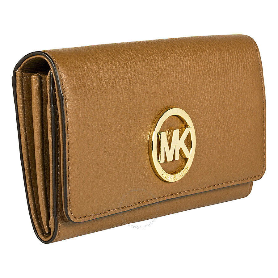 Michael Kors Fulton Carryall Wallet In Brown