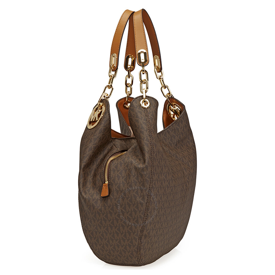 344b122e8d4d Michael Kors Fulton Large Logo Shoulder Bag - Brown - Fulton ...