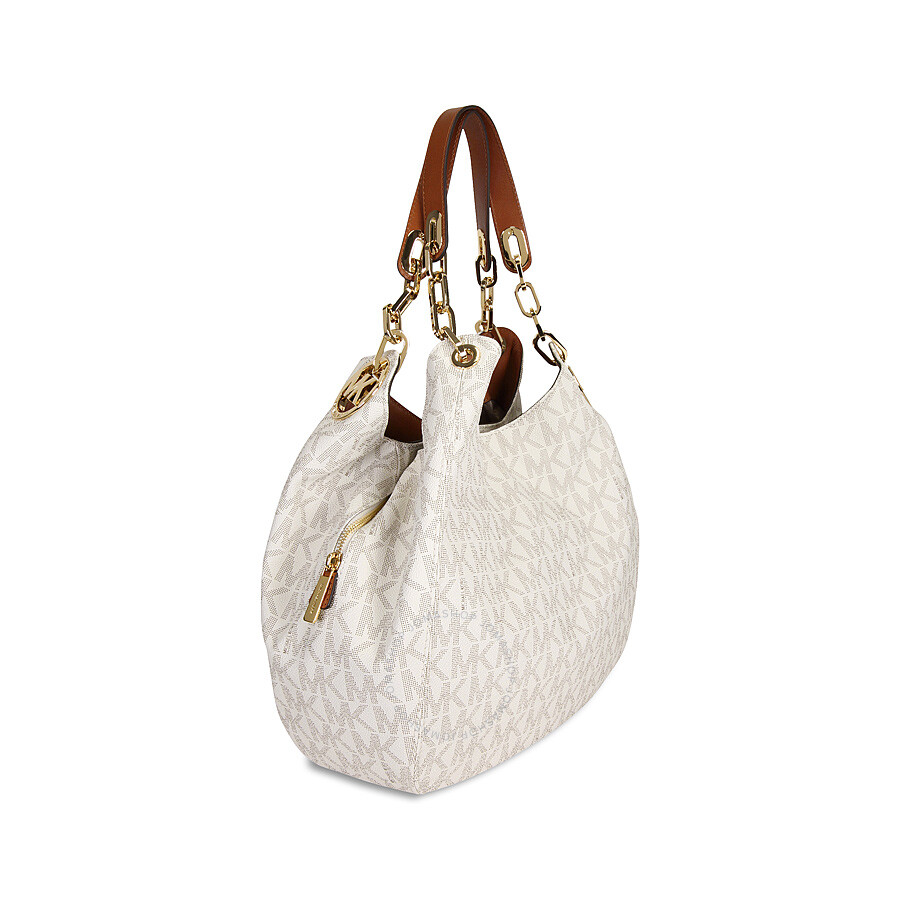 9862850bf070 Michael Kors Fulton Large Logo Shoulder Bag - Vanilla - Cynthia ...
