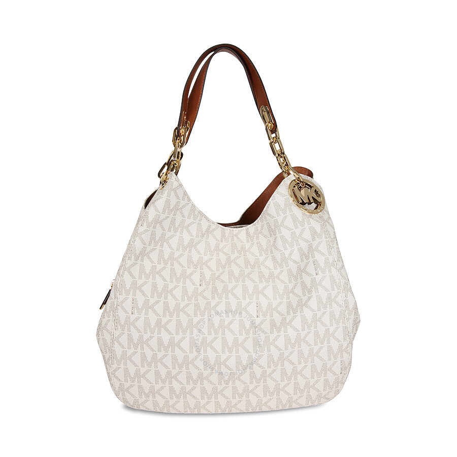 Michael Kors Fulton Large Logo Shoulder Bag - Vanilla