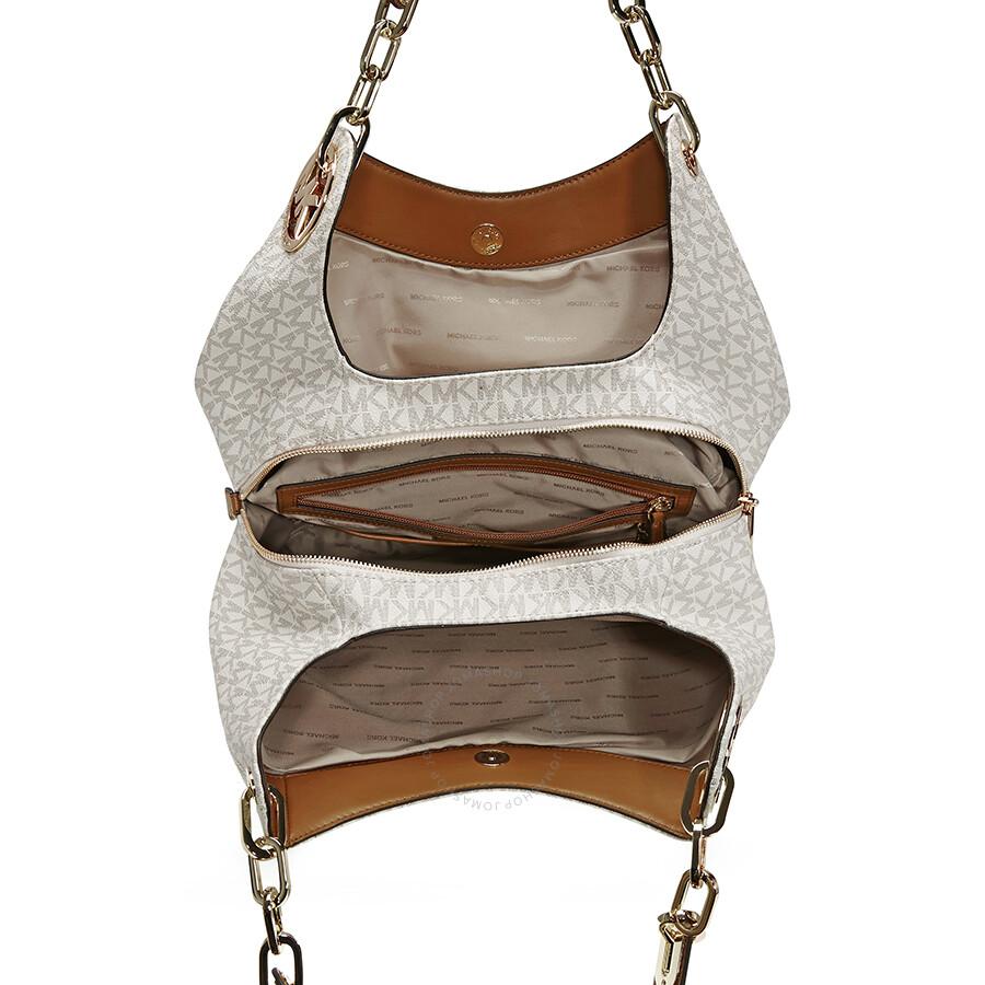 27cea269117e Michael Kors Fulton Large Logo Shoulder Bag - Vanilla - Fulton ...