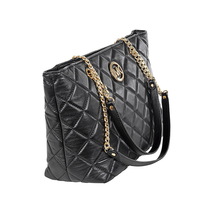 Michael Kors Fulton Large Quilted Tote in Black - Michael Kors ... : michael kors fulton quilted tote - Adamdwight.com