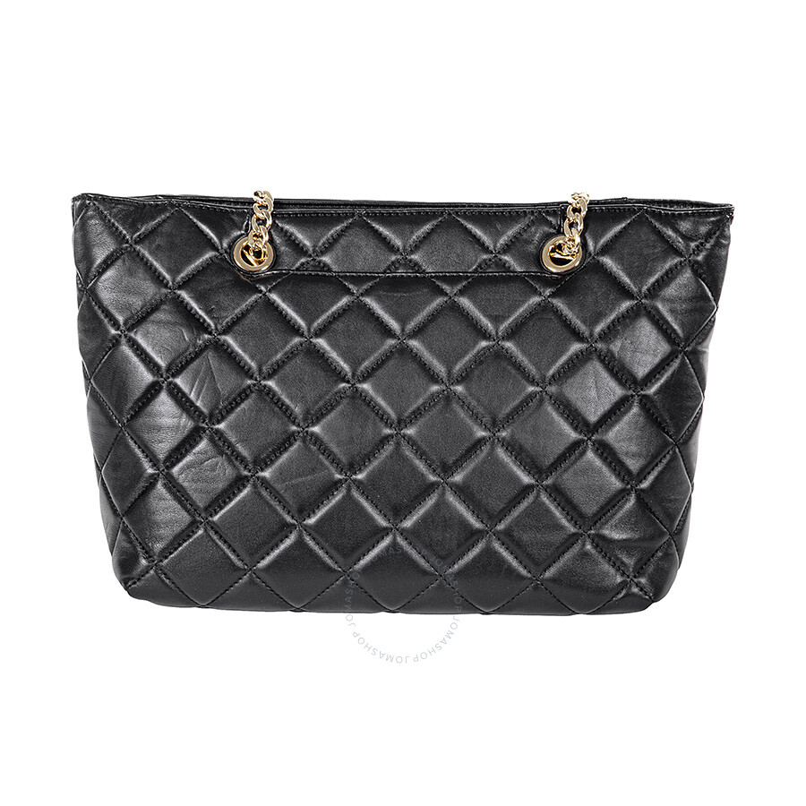 Michael Kors Fulton Large Quilted Tote in Black - Michael Kors ...