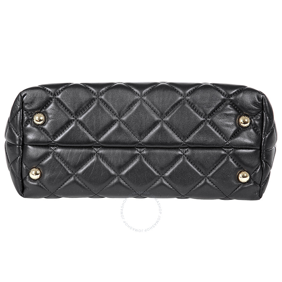 Michael Kors Fulton Large Quilted Tote In Black Michael