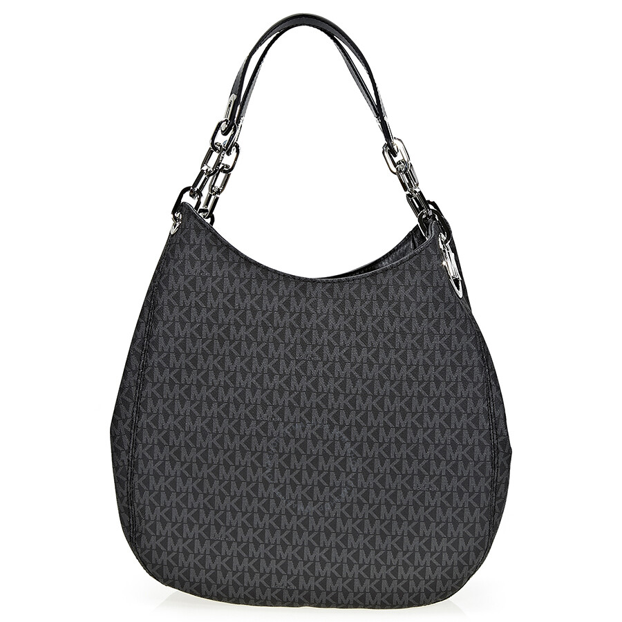 michael kors fulton large shoulder bag black fulton michael kors handbags handbags. Black Bedroom Furniture Sets. Home Design Ideas