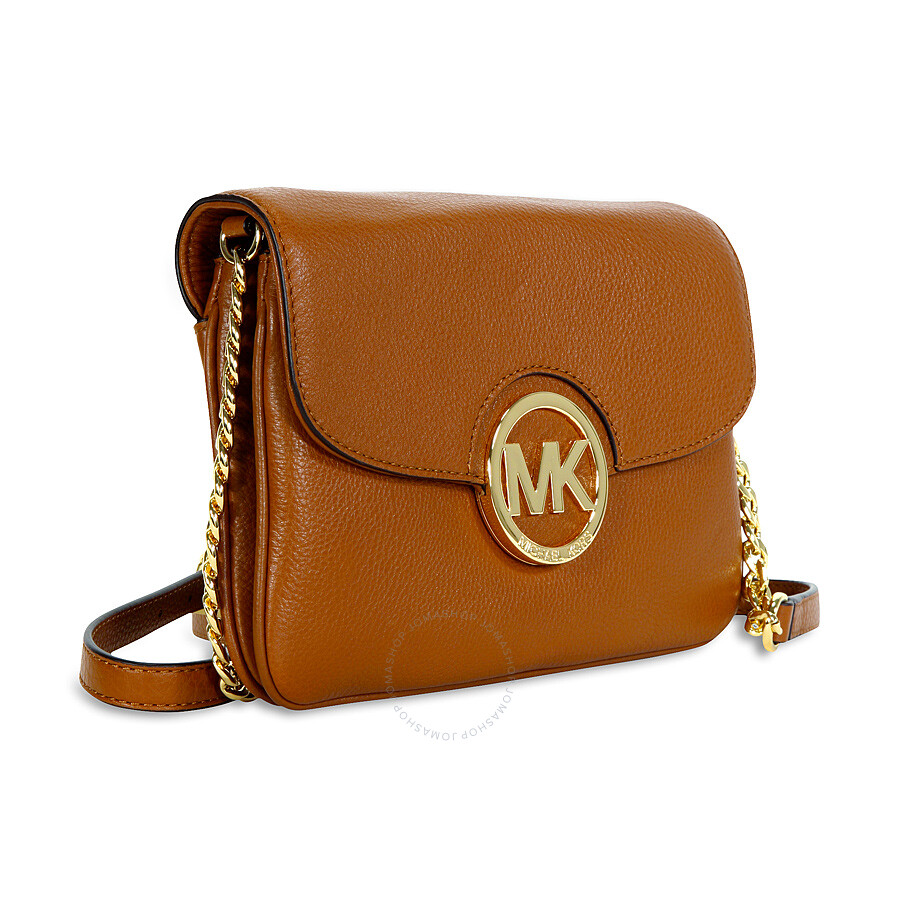 dce16e26fcaa Michael Kors Fulton Leather Crossbody Bag - Luggage - Fulton ...