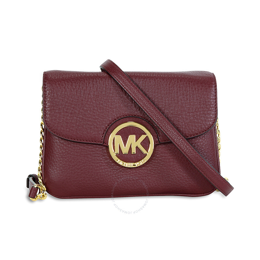Michael Kors Crossbody Laukut : Michael kors fulton leather crossbody bag merlot