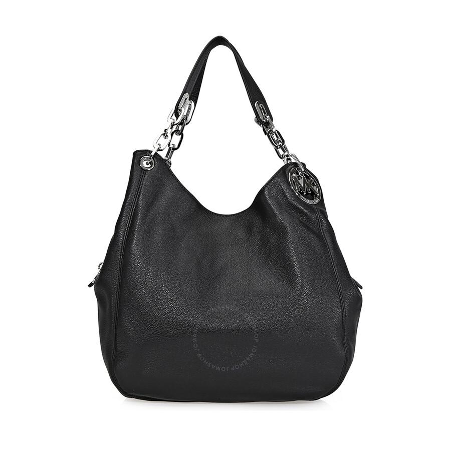 cd053a2c2fc1d Michael Kors Fulton Leather Hobo Bag - Black - Fulton - Michael Kors ...