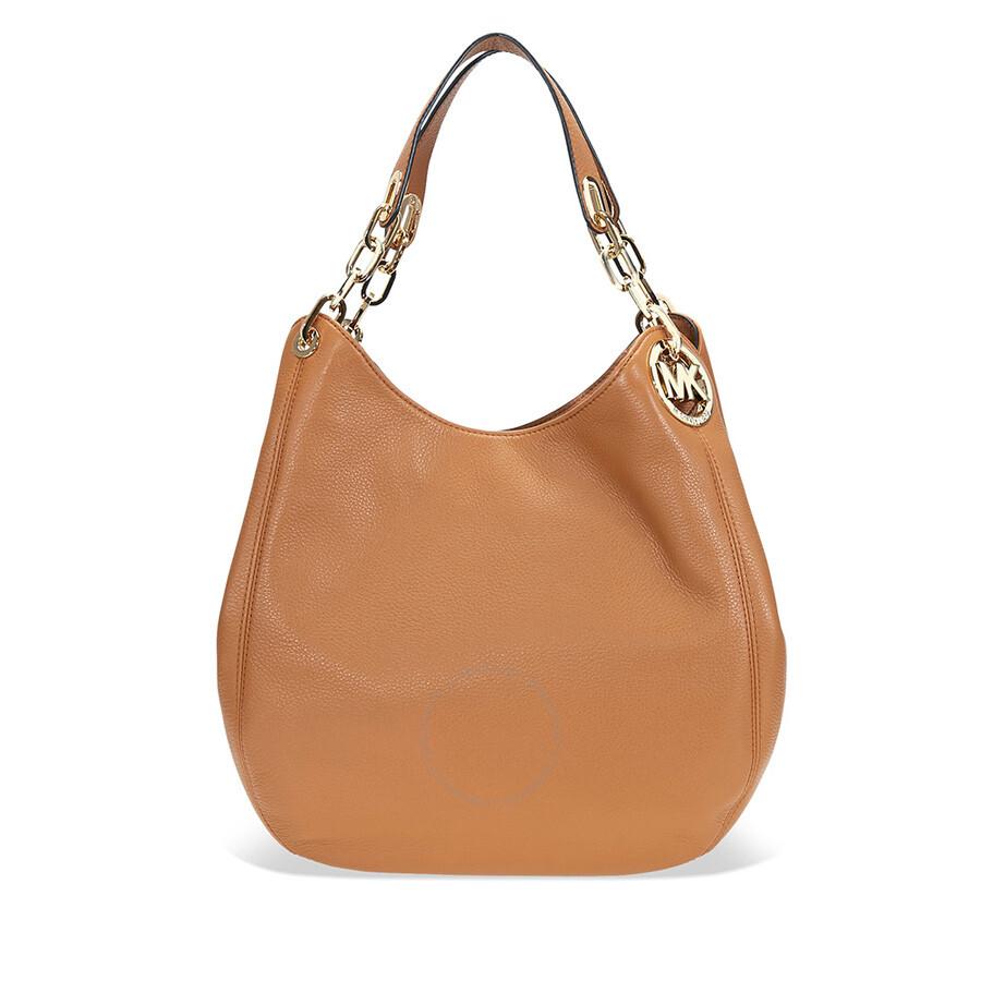 863800d66804 Michael Kors Fulton Leather Shoulder Bag- Acorn Item No. 30H3GFTE3L-532