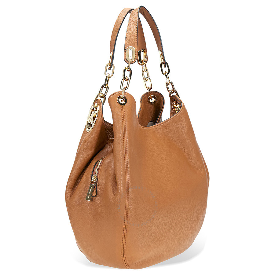 Michael Kors Fulton Leather Shoulder Bag Acorn