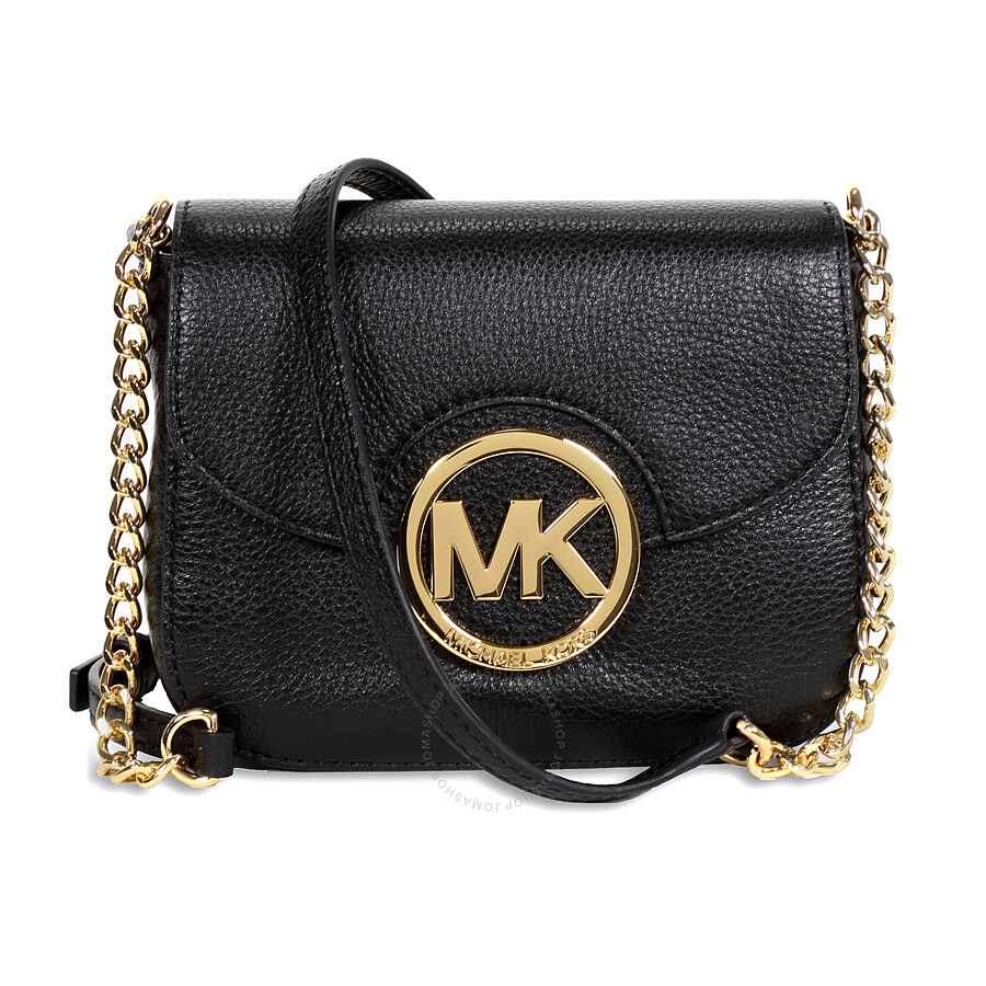 fa4c536d9945 Michael Kors Fulton Leather Small Crossbody - Black Item No.  MK32H3GFTC1L-001