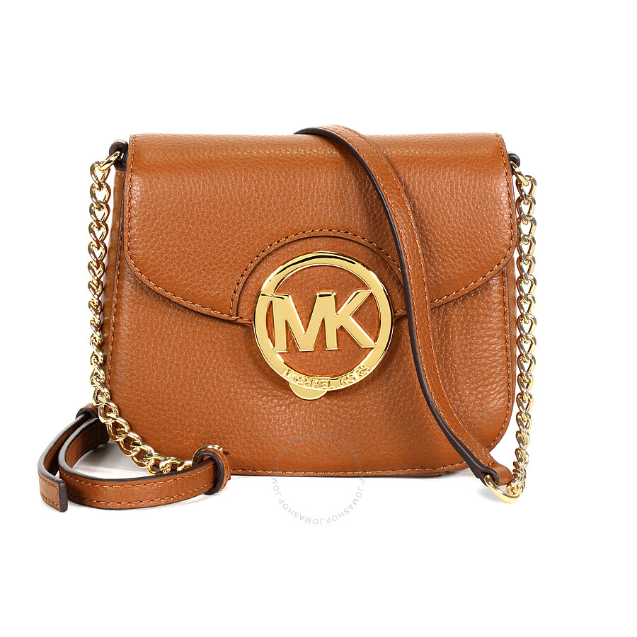 dc5a531c37c2 Michael Kors Fulton Leather Small Crossbody - Luggage Item No.  32H3GFTC1L-230