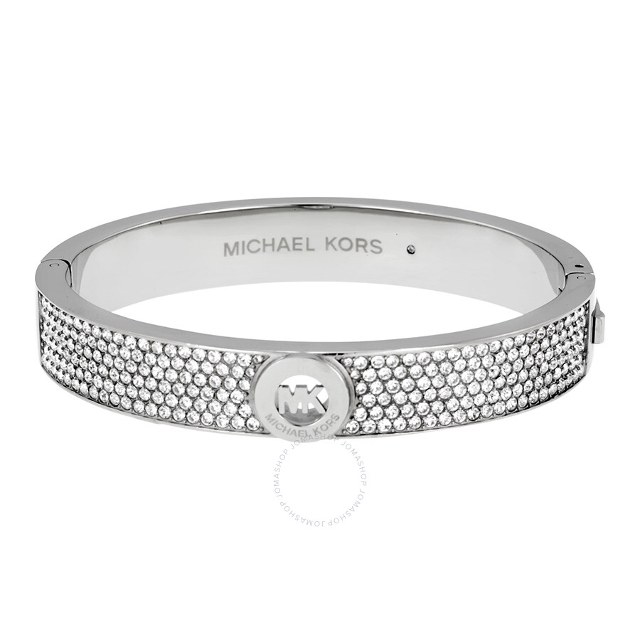 michael kors fulton pave silver tone bangle bracelet mkj3999040 michael kors ladies jewelry. Black Bedroom Furniture Sets. Home Design Ideas