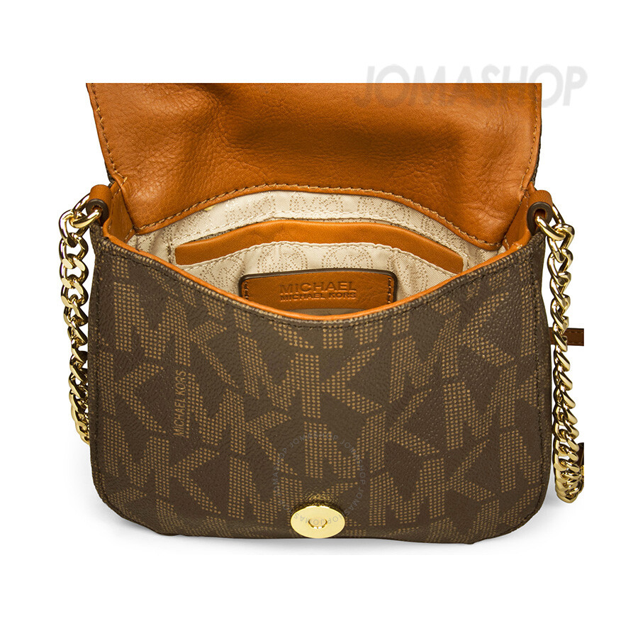 Michael Kors Fulton Small Crossbody Bag - Brown - Fulton ...