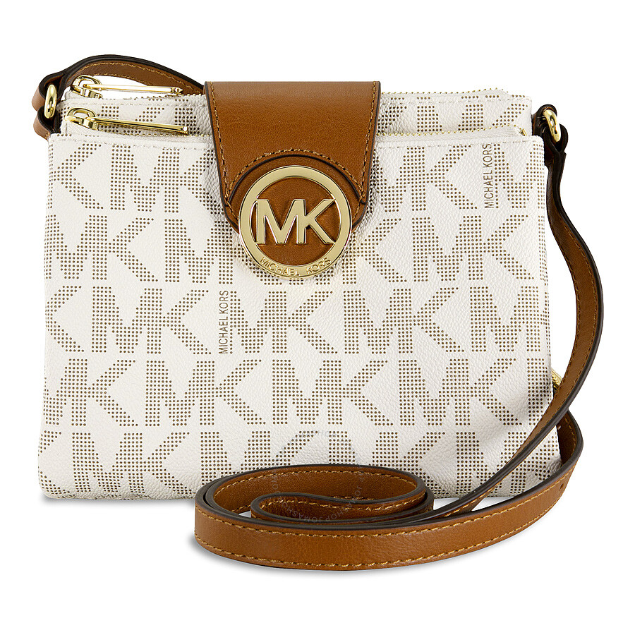 michael kors fulton small crossbody handbag in vanilla cream fulton michael kors handbags. Black Bedroom Furniture Sets. Home Design Ideas