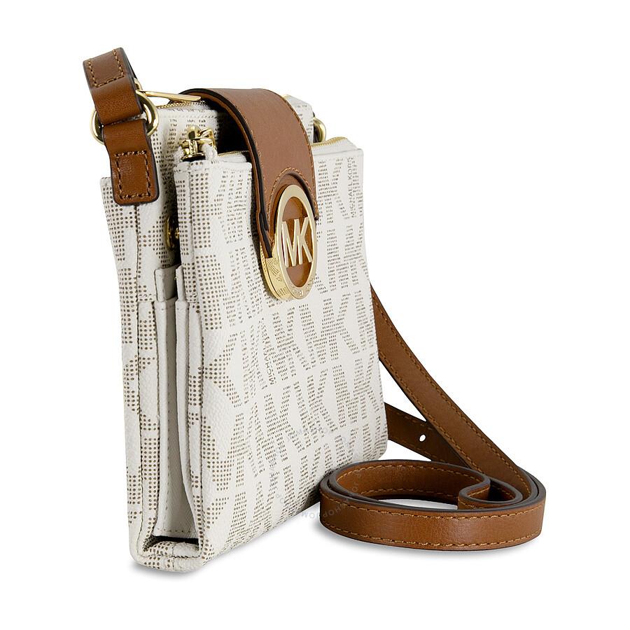 Michael Kors Fulton Small Crossbody Handbag in Vanilla ...