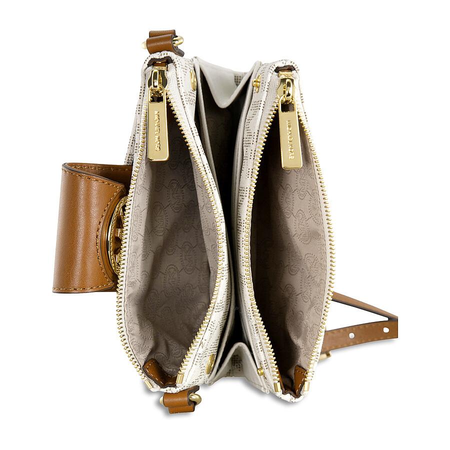 094260dd6a03 Michael Kors Fulton Small Crossbody Handbag in Vanilla - Cream ...
