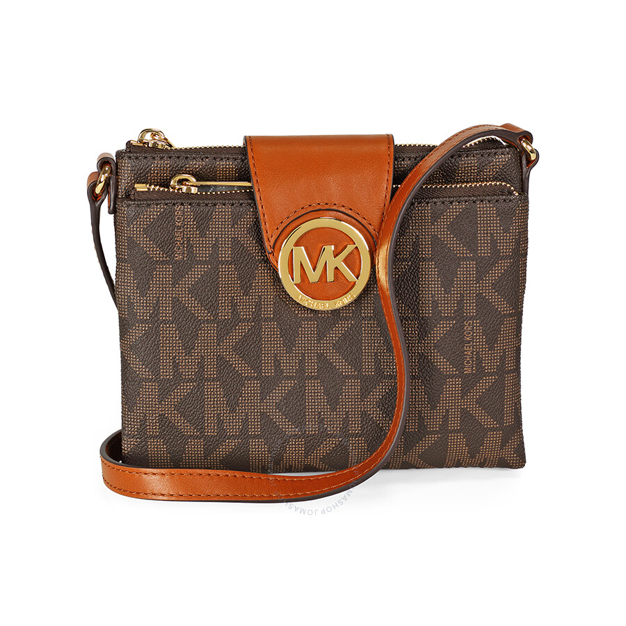 7f87a0e882e0 Michael Kors Fulton Small Saffiano Leather Messenger In Brown ...