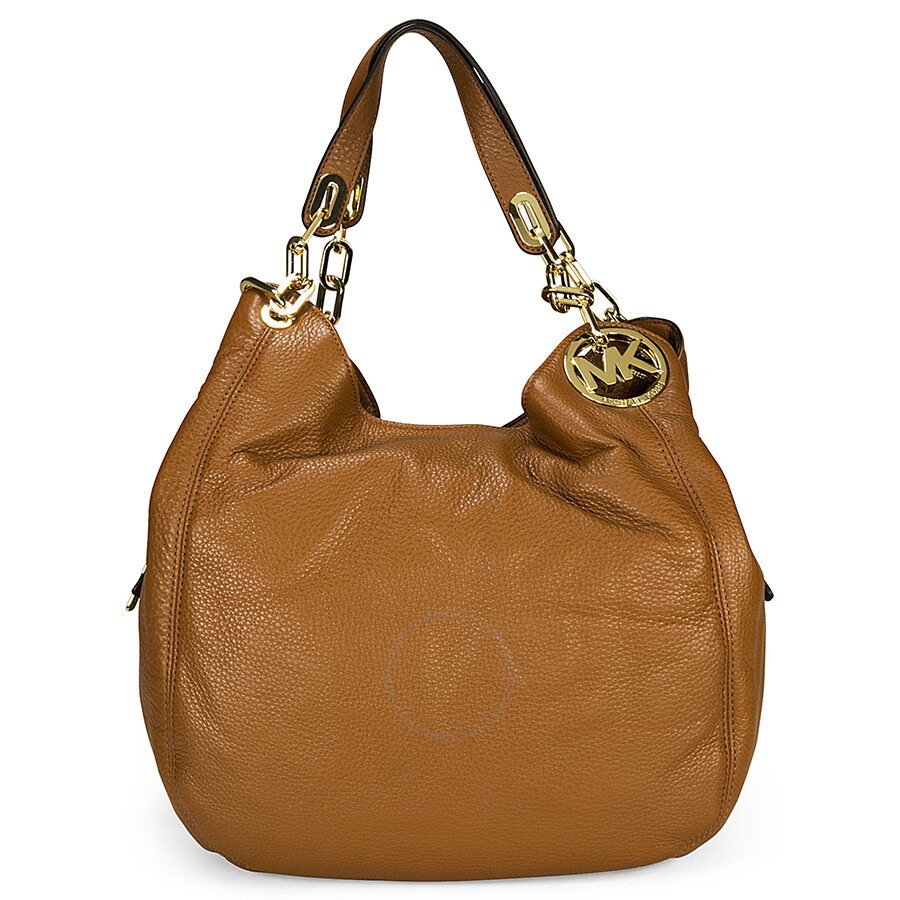 Michael Kors Fulton Tan Leather Large Shoulder Tote - Fulton ...