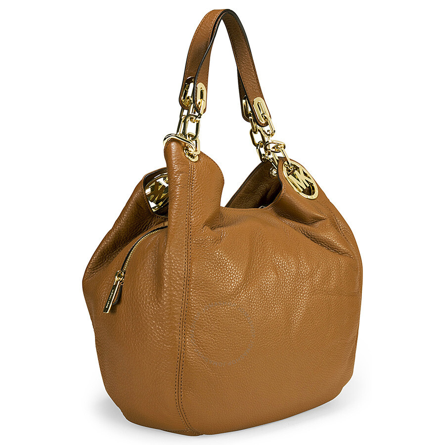 michael kors fulton tan leather large shoulder tote fulton michael kors handbags handbags. Black Bedroom Furniture Sets. Home Design Ideas