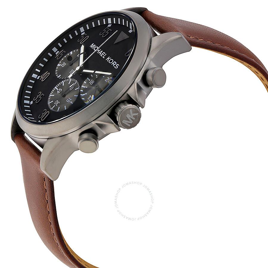 3759c540cfd3 Michael Kors Gage Black Dial Men s Chronograph Watch MK8536 - Gage ...
