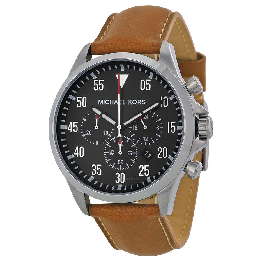 michael kors gage chronograph black dial tan leather men s watch michael kors gage chronograph black dial tan leather men s watch mk8333