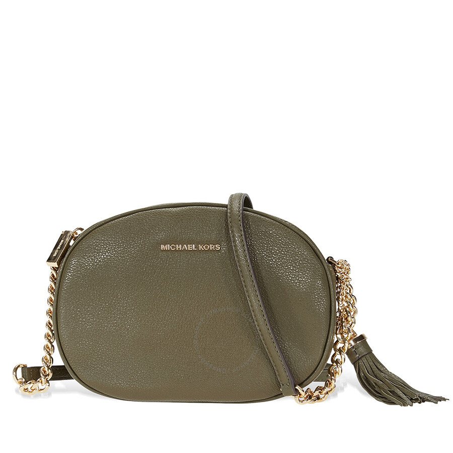 03cf655d82a6 Michael Kors Ginny Medium Crossbody Bag - Olive Item No. MK30H6GGNM2L-333
