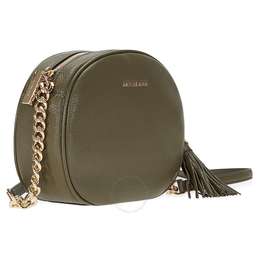db15820b31cb Michael Kors Ginny Medium Crossbody Bag - Olive - Ginny - Michael ...