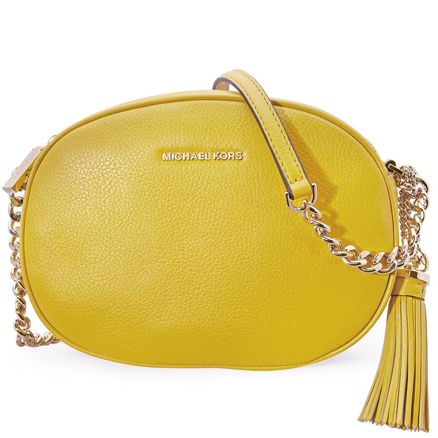 4a76015916a2 Michael Kors Ginny Medium Messenger Bag - Sunflower Item No. 30H6GGNM2L-719