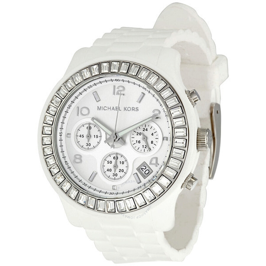 Michael Kors Glitz White Dial Chronograph Ladies Watch MK5396