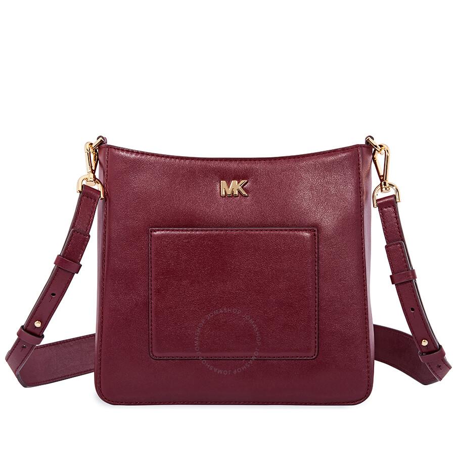 8a07b118208e Michael Kors Gloria Leather Messenger Bag - Oxblood Item No. 30F8GG0M2L-610