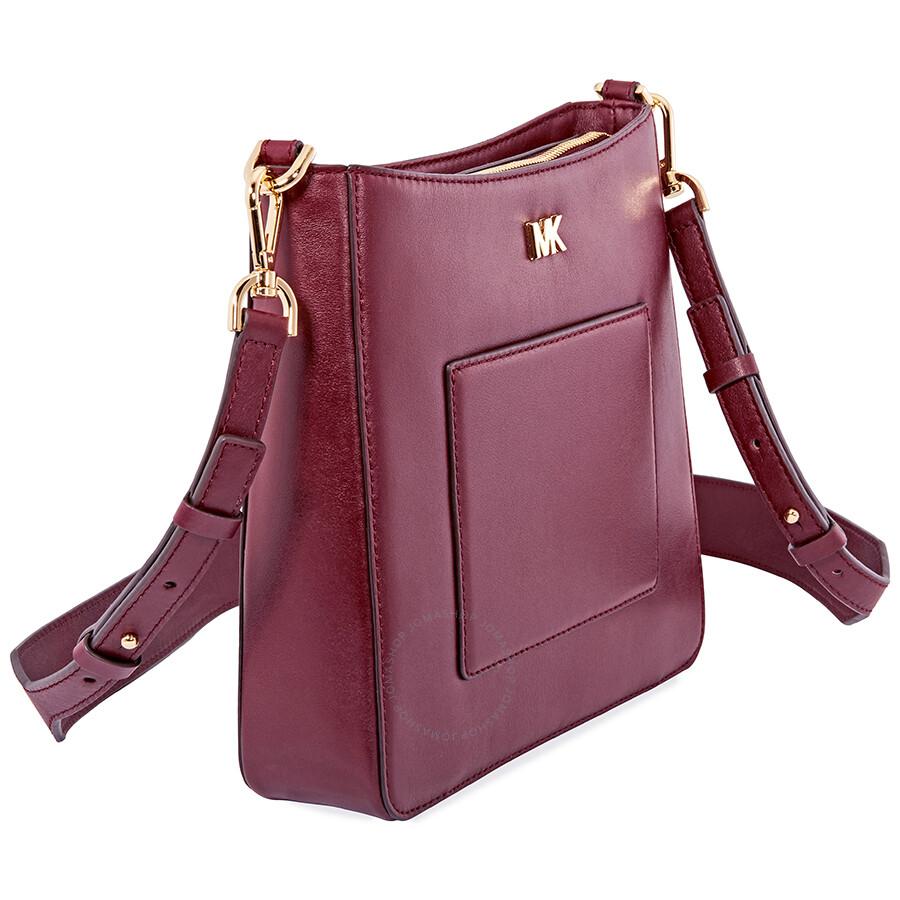 bd46bd7ce495 Michael Kors Gloria Leather Messenger Bag - Oxblood - Michael Kors ...