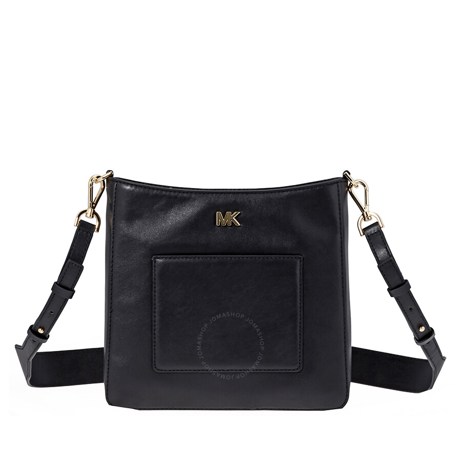 Michael Kors Gloria Leather Messenger Bag Black