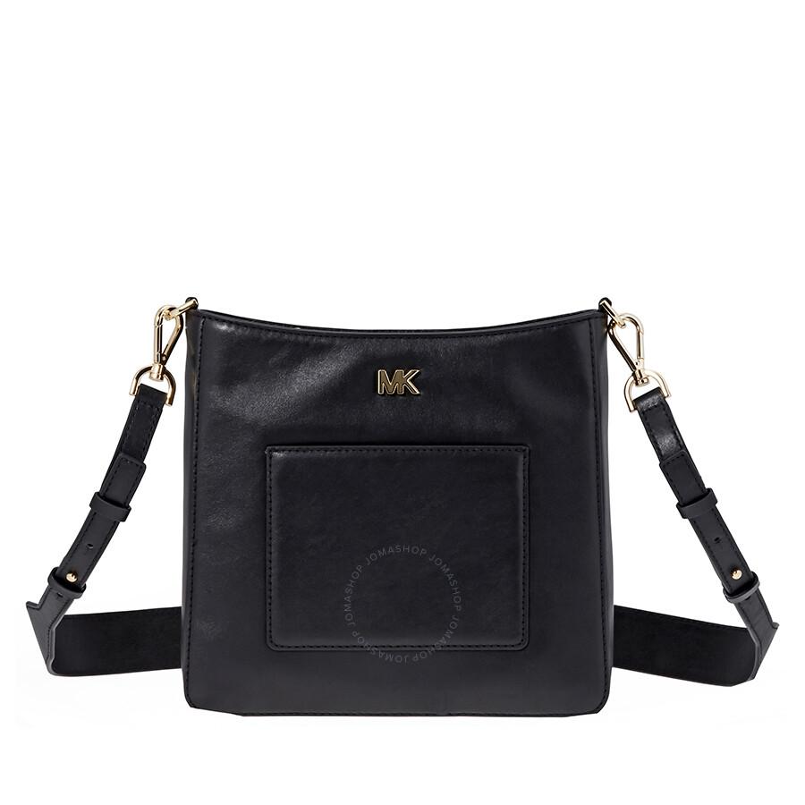 4e37ed137cea Michael Kors Gloria Leather Messenger Bag- Black Item No. 30F8GG0M2L-001