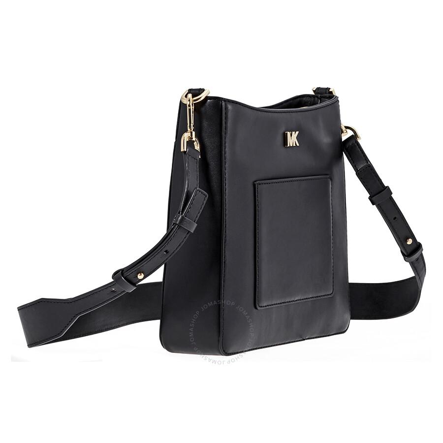 f0e48aafab Michael Kors Gloria Leather Messenger Bag- Black - Michael Kors ...