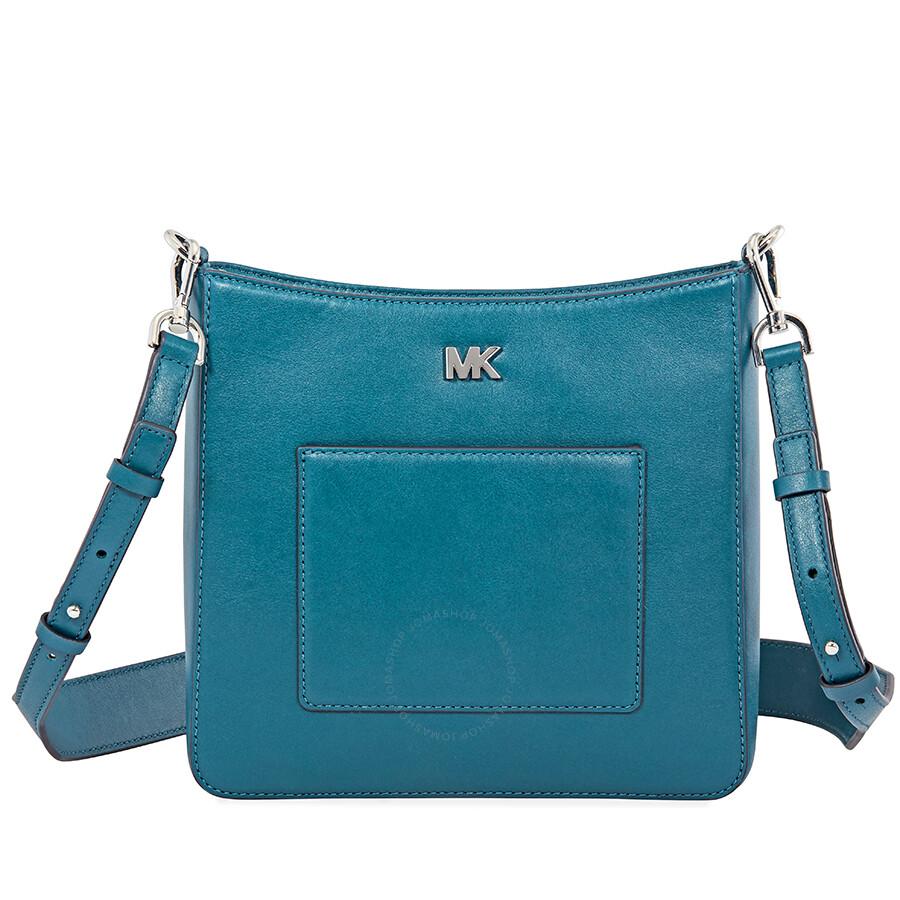 Michael Kors Gloria Pocket Swing Pack Crossbody Bag Teal