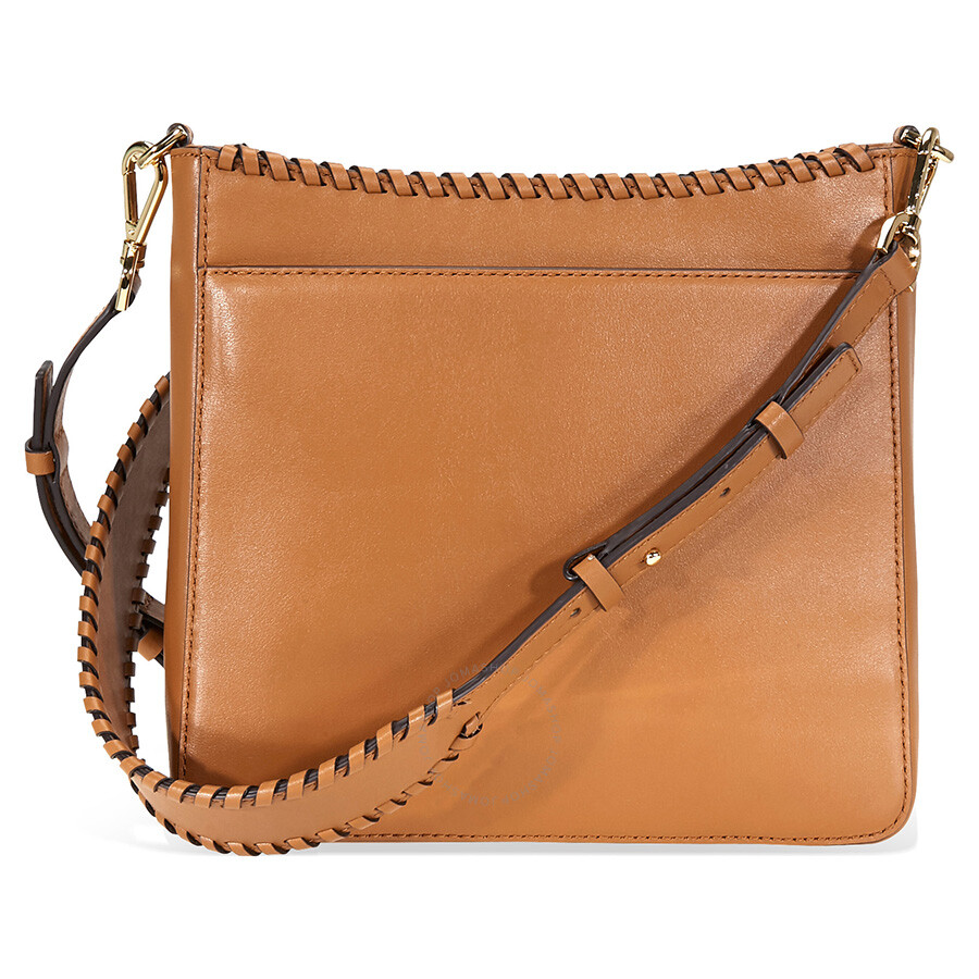 352a30c788 Michael Kors Gloria Whipstitched Leather Messenger Bag- Acorn ...