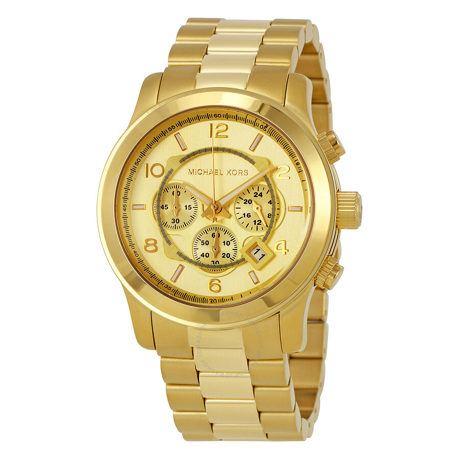 michael kors gold tone men s watch mk8077 runway michael kors michael kors gold tone men s watch mk8077