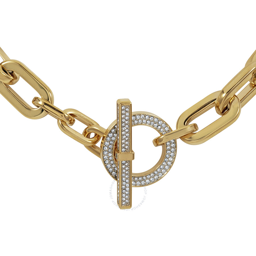 Michael Kors GoldTone Pave Toggle Necklace MKJ4601710 Michael